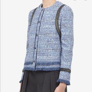 JOSEPH Tweed Chain-trimmed Jacket
